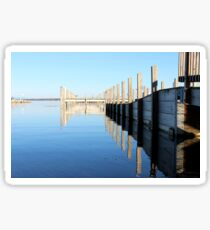 Old Wooden Docks - Reflections on the Water Sticker