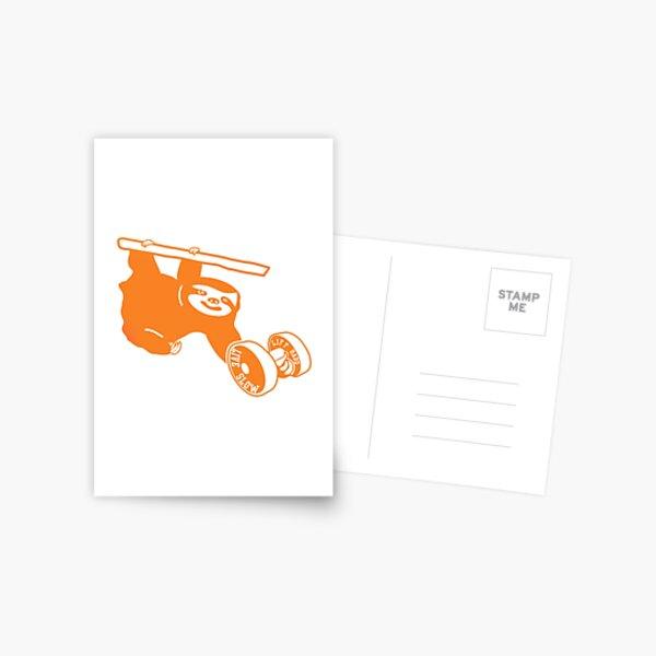 Gym Sloth - Orange Postcard