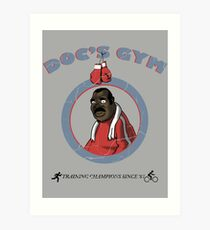 Training Time at Doc's Gym Art Print