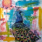 Peacock Abstract by Barb Leopold