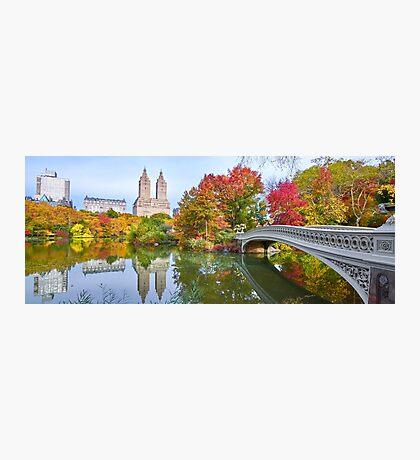 Bow Bridge Fall Photographic Print