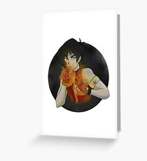 Firebender Keith Greeting Card