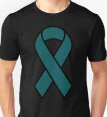 Teal Ovarian Cancer Ribbon- Cancer Shirts Unisex T-Shirt