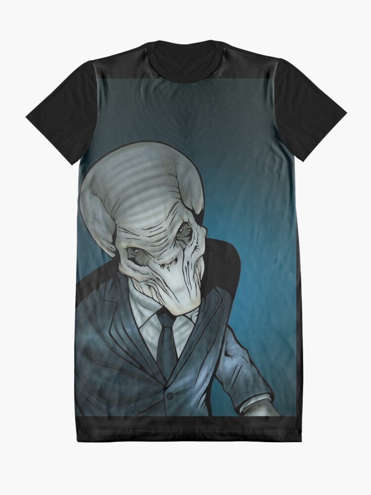 Alternate view of The Silent Command Graphic T-Shirt Dress
