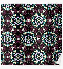 Stain Glass pattern Poster