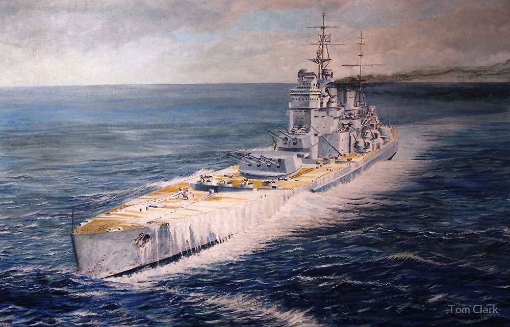 Warship series #4 by Tom Clark
