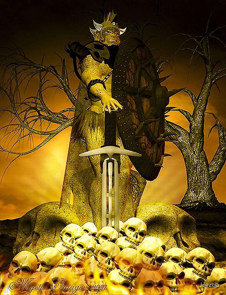 Demon Warrior by Heztia