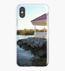Gazebo in Northport, Michigan - Red and White iPhone Case/Skin