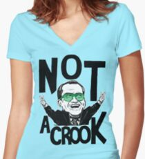 Not A Crook Women's Fitted V-Neck T-Shirt