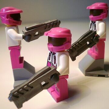 Halo Wars Pink Spartan Soldier Custom Minifig by Chillee