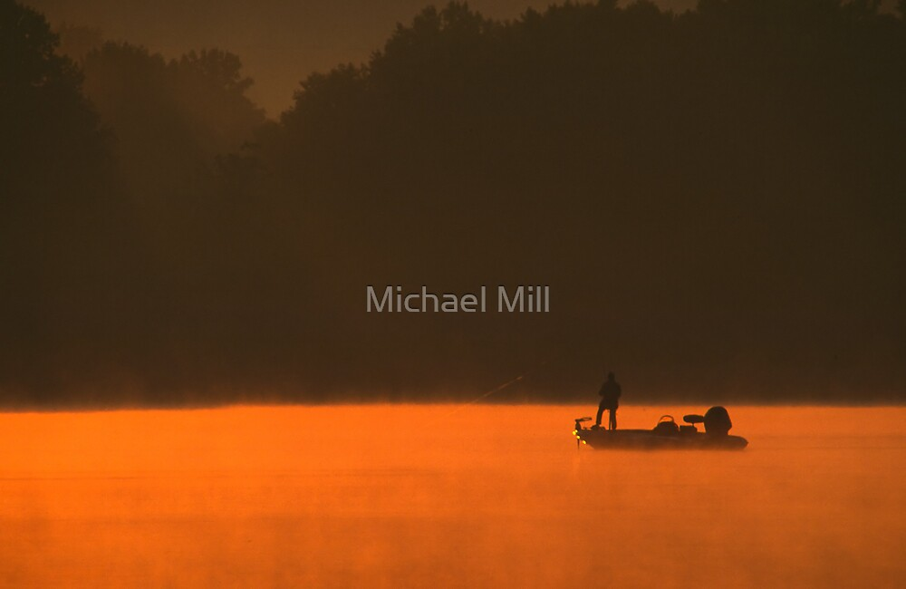 Bass Fishing by Michael Mill