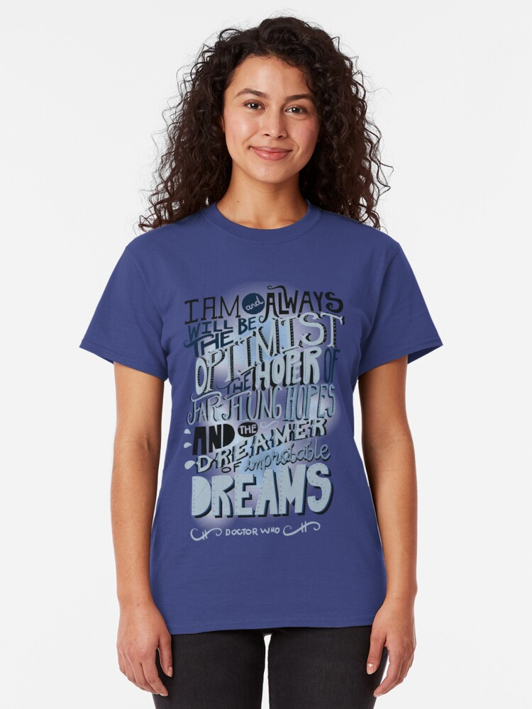Alternate view of Dreamer of Improbable Dream Classic T-Shirt