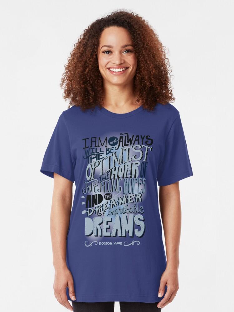 Alternate view of Dreamer of Improbable Dream Slim Fit T-Shirt