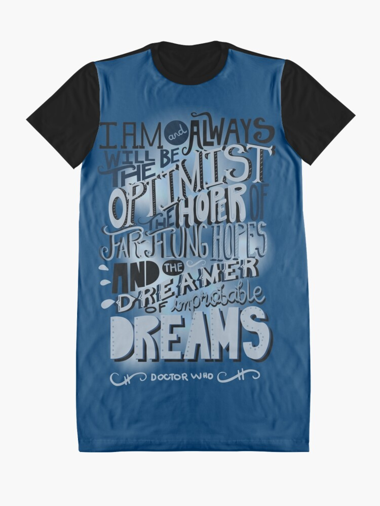 Alternate view of Dreamer of Improbable Dream Graphic T-Shirt Dress