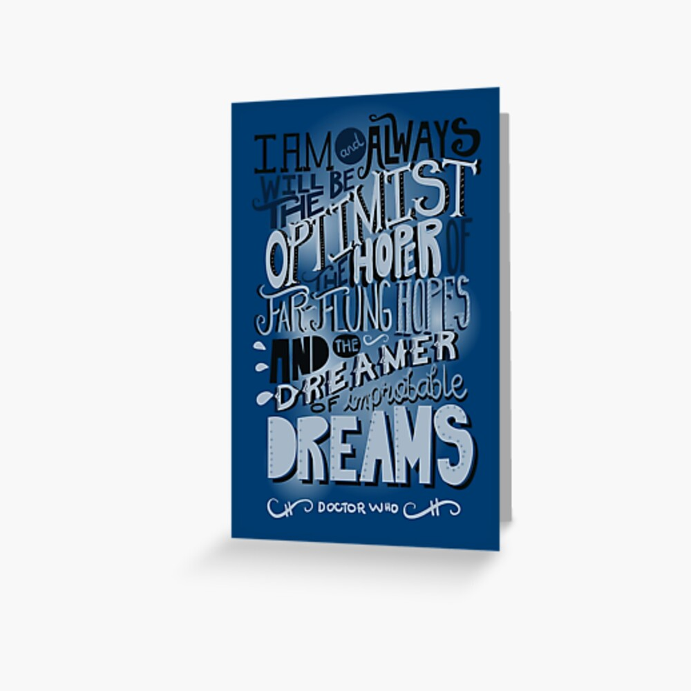 Dreamer of Improbable Dream Greeting Card