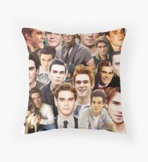 kj apa collage Throw Pillow
