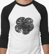 Striking black and white beaded floral design T-Shirt