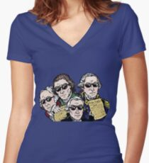 Founding Father Dudes Women's Fitted V-Neck T-Shirt