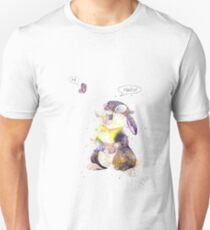 Thumper, Bunny And Butterfly, Watercolor Art Unisex T-Shirt