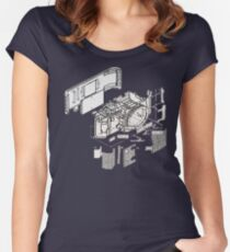 Nikon f3 camera blueprint Women's Fitted Scoop T-Shirt