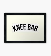 Knee Bar - Brazilian Jiu-Jitsu Framed Print