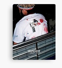 Kevin Abstract - Runner Canvas Print