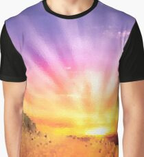 Fractal Scapes - Desert Sunset Graphic T-Shirt