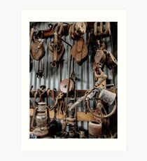 Relics from Rural Australia - Old Timber Cutting Tools Art Print
