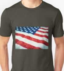 American Flag Textured Unisex T-Shirt