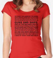 guns, ships Women's Fitted Scoop T-Shirt