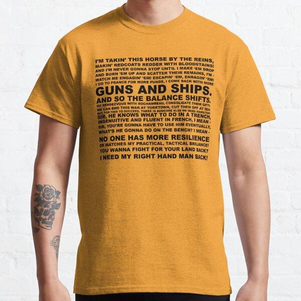 guns, ships Classic T-Shirt