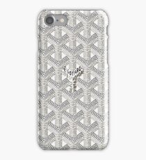 Goyard White Case iPhone Case/Skin