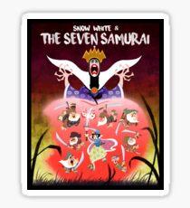 Snow White and the Seven Samurai Sticker