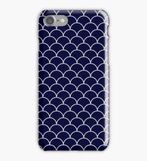 Navy Blue Mermaid Scales iPhone Case/Skin