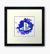 Playstation Watercolor Framed Print