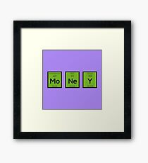 Money Chemical Element Funny R3z08 Framed Print