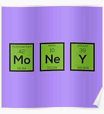 Money Chemical Element Funny R3z08 Poster