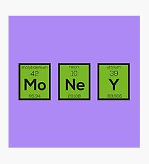 Money Chemical Element Funny R3z08 Photographic Print