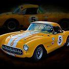 1956 Corvette 2 by Stuart Row