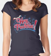 Hey Puddin Suicide Squad - Harley Quinn Women's Fitted Scoop T-Shirt