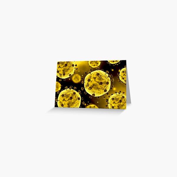 Microscopic view of coronavirus. Greeting Card