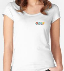 Multi-Color 3D Golf Wang Side Logo Women's Fitted Scoop T-Shirt
