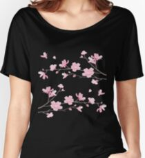 Cherry Blossom - Transparent Women's Relaxed Fit T-Shirt