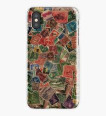 Vintage Postage Stamps Collection iPhone Case/Skin