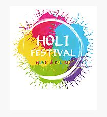 holi - music & Colours - festival of colors - muslim holiday Photographic Print