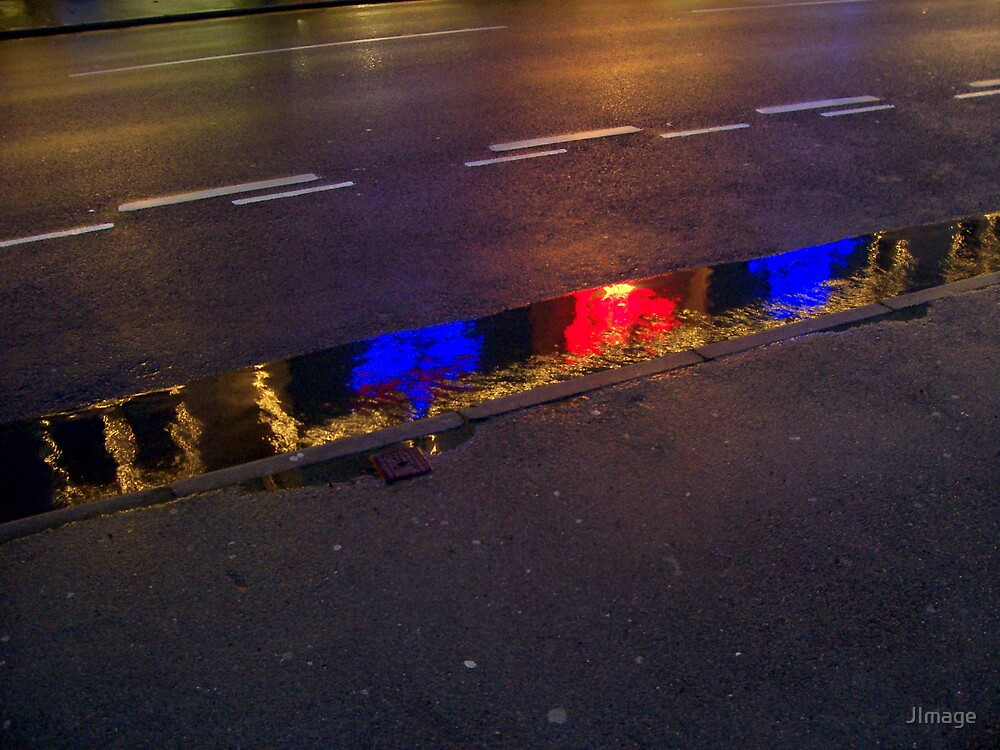 Red and Blue Puddle by JImage