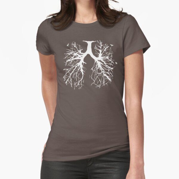 Tree Of Life (white) Fitted T-Shirt