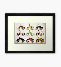 Kids' Bikes Framed Print