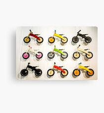 Kids' Bikes Canvas Print