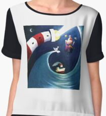 The romantic life of a lighthouse keeper Chiffon Top